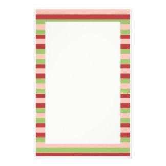 KRW Holiday Candy Stripes Stationery