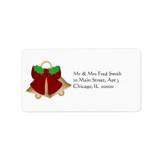 KRW Holly Bow Holiday Stamp Address Label