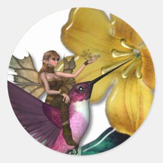 KRW Hummingbird Faery Classic Round Sticker