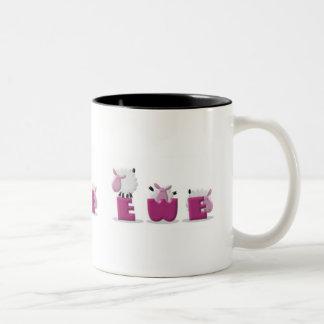 KRW I Love Ewe Two-Tone Coffee Mug