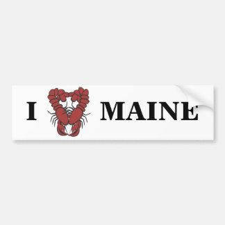 KRW I Love Maine Fun Lobster Bumper Sticker