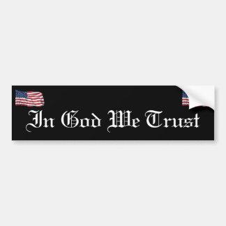KRW In God We Trust Bumper Sticker