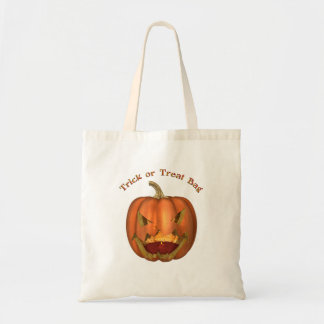 KRW Jack O Lantern Halloween Trick or Treat Budget Tote Bag