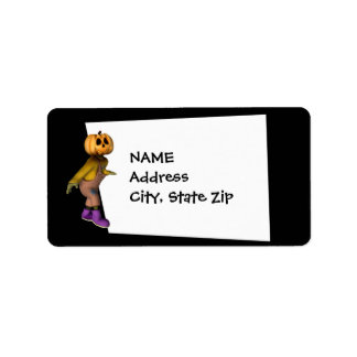 KRW Jack Scarecrow Custom Halloween Label Address Label