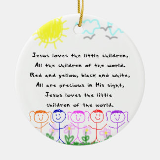KRW Jesus Loves the Little Children Ornament