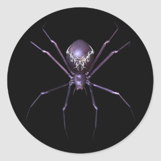 KRW Jeweled Spider Halloween Round Sticker