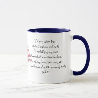 KRW JFK Quote mug