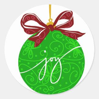 KRW Joy Christmas Ornament Classic Round Sticker