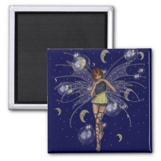 KRW Kiri - Celestial Faery - Red Head Square Magnet