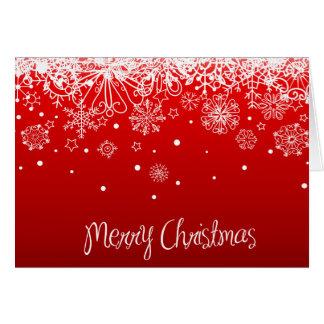 KRW Lacy White Snowflakes Christmas Greeting Card