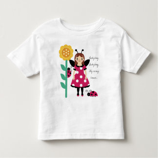 KRW Ladybug Fairy Sunflower Girls T-Shirt