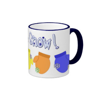 KRW Let It Snow Mittens Mug - Blue