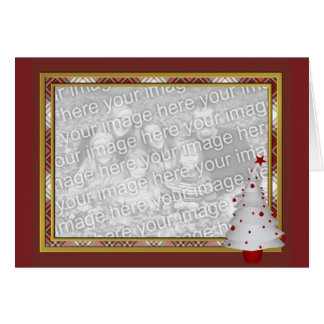 KRW Lil White Christmas Tree Photo Frame Card