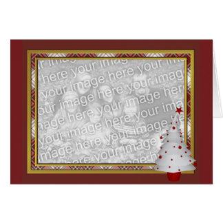 KRW Lil White Christmas Tree Photo Frame Card