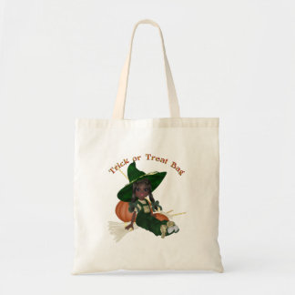 KRW Lil' Witch Halloween Trick or Treat Budget Tote Bag