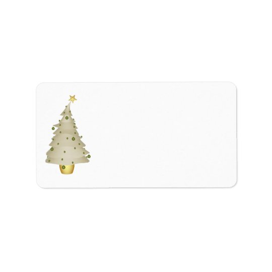 KRW Little Xmas Tree Holiday Blank Address Label