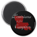 KRW Louisiana is for Vampires 6 Cm Round Magnet