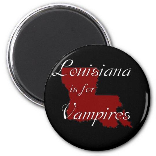 KRW Louisiana is for Vampires 6 Cm Round Magnet