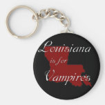 KRW Louisiana is for Vampires Basic Round Button Key Ring