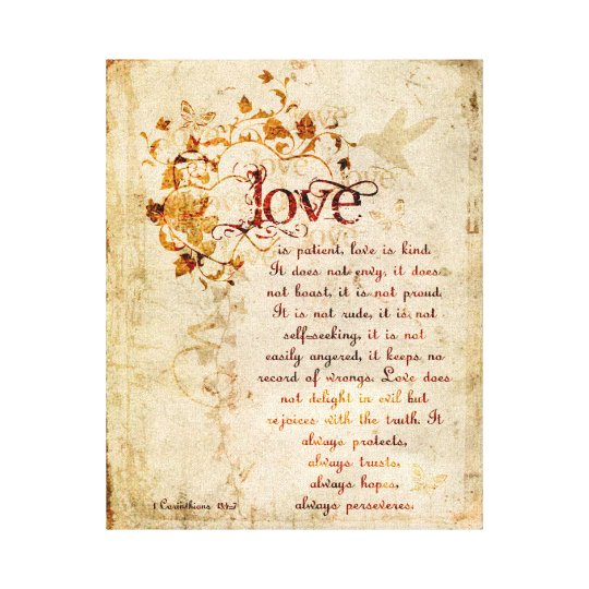 KRW Love is Patient Corinthians Bible Quote Art