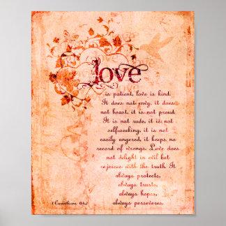 KRW Love is Patient Corinthians Bible Quote Poster