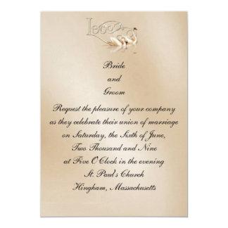 KRW Love Swans Custom Wedding Invitation