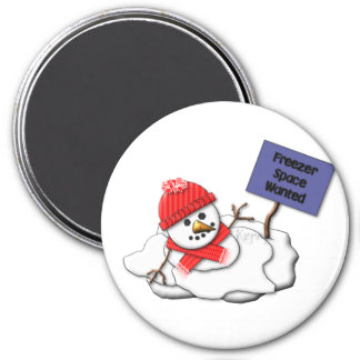 KRW Melting Snowman 7.5 Cm Round Magnet