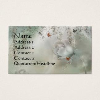 KRW Misty Gray Floral with Orange Butterflies