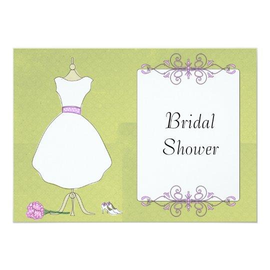 KRW Modern Wedding Dress Bridal Shower Card