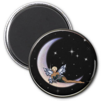 KRW Moon Faery 6 Cm Round Magnet