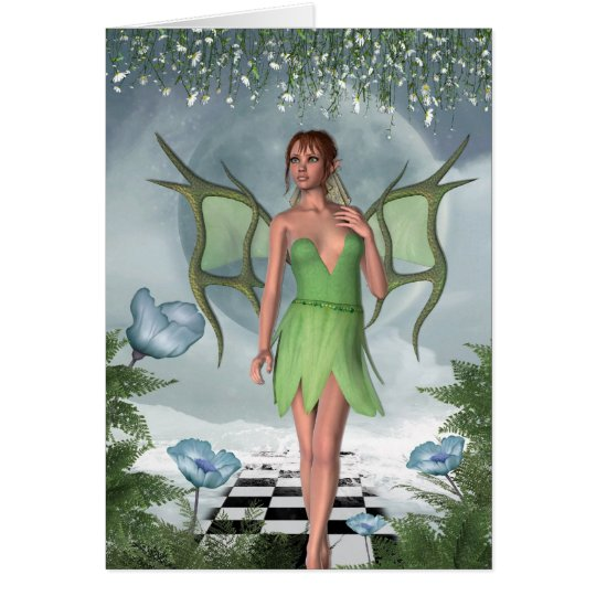 KRW Moonlit Dreams Fairy Fantasy Art Card