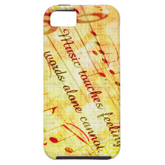 KRW Music Touches Feelings Parchment  iPhone Cover iPhone 5 Case