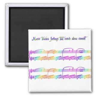 KRW Music Touches Feelings Square Magnet