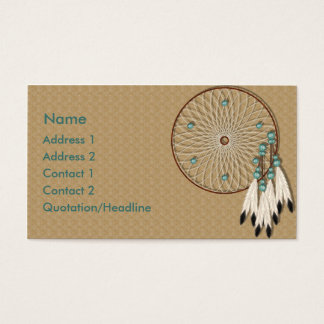 KRW Native American Dreamcatcher Custom Business Card