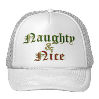 KRW Naughty & Nice Christmas Cap Hat