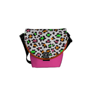 KRW Neon Leopard Print Mini Messenger Bag