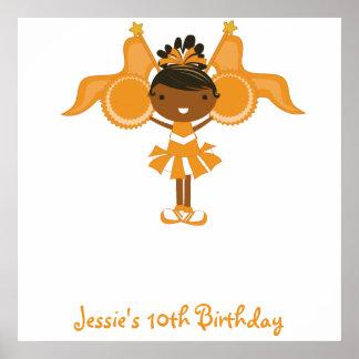 KRW Orange Cheerleader Birthday Autograph Poster