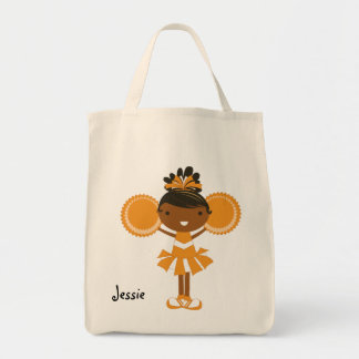 KRW Orange Cheerleader Custom Party Tote Bag