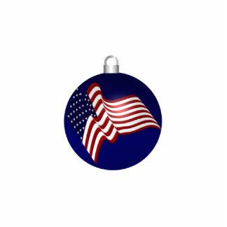KRW Patriotic Flag Holiday Ornament Photo Sculpture Decoration