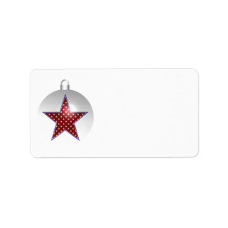 KRW Patriotic Holiday Ornament Blank Address Label