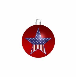 KRW Patriotic Holiday Ornament Photo Sculpture Decoration