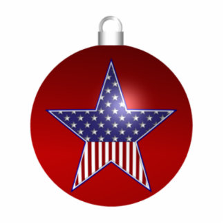KRW Patriotic Holiday Sculpture Ornament Photo Sculpture Decoration