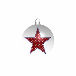 KRW Patriotic Star Holiday Ornament Photo Sculpture Decoration