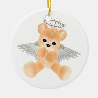 KRW Peach Guardian Angel Bear Ornament