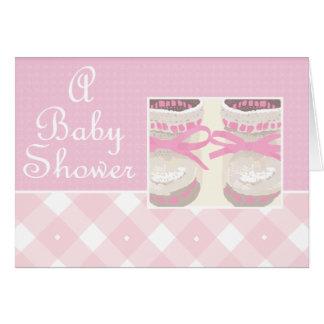 KRW Pink Booties Custom Baby Shower Invitation