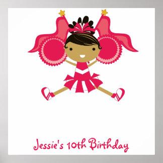 KRW Pink Cheerleader Birthday Autograph Poster