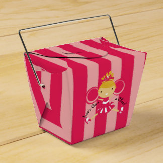 KRW Pink Cheerleader Party Take Out Favor Box Favour Box