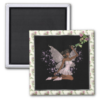 KRW Pink Faery Square Magnet
