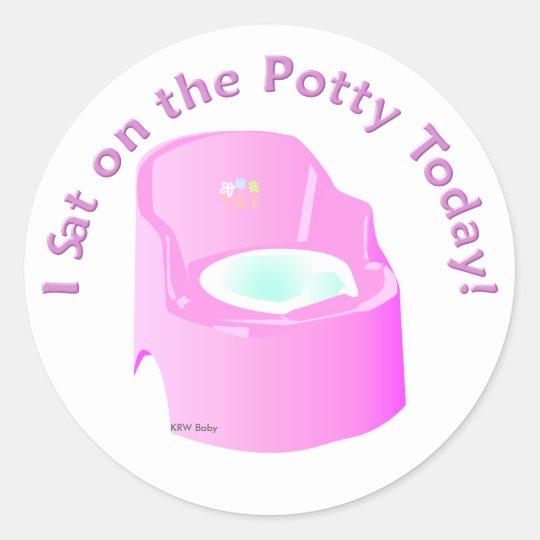KRW Pink I Sat on the Potty Training