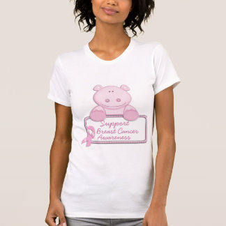 KRW Pink Ribbon Hippo - Support T Shirts